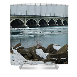Detroit Belle Isle Bridge Shower Curtain