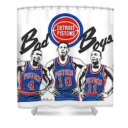 Detroit Bad Boys Pistons Shower Curtain