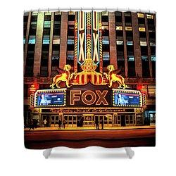 Detroit Fox Theatre Marquee Shower Curtain