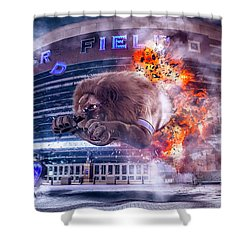 Shower Curtain featuring the photograph Detroit Lions At Ford Field 2 by Nicholas Grunas