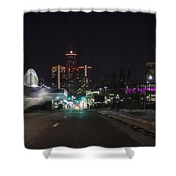 Shower Curtain featuring the photograph Detroit Michigan by Nicholas Grunas