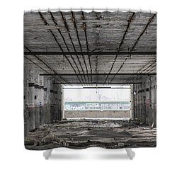 Detroit Packard Plant  Shower Curtain by John McGraw