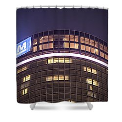Shower Curtain featuring the photograph Detroit Renaissance Center by Nicholas  Grunas