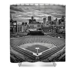 Detroit Tigers Comerica Park Bw 4837 Shower Curtain