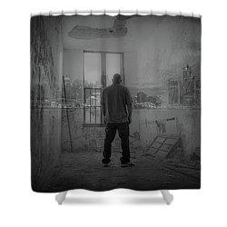 Detroit Urbex  Shower Curtain