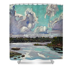 Developing Showers Shower Curtain by Phil Chadwick