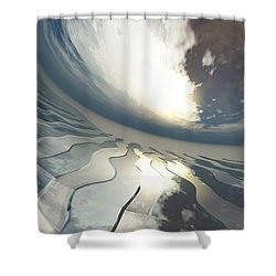 Deviating World Shower Curtain by Richard Rizzo