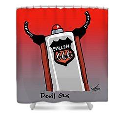 Devil Gas Shower Curtain