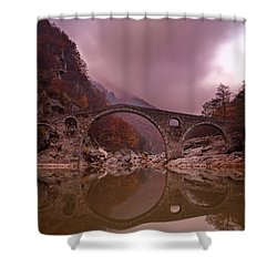 Devil's Bridge Shower Curtain by Evgeni Dinev