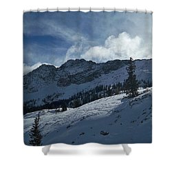 Devils Castle Morning Light Shower Curtain by Michael Cuozzo