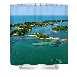 Devils Foot Island Shower Curtain
