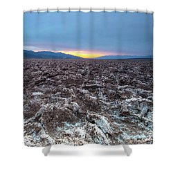 Shower Curtain featuring the photograph Devil's Golf Course  by Catherine Lau