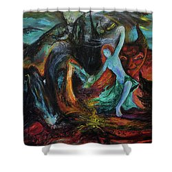 Devils Gorge Shower Curtain by Christophe Ennis