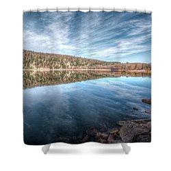 Devils Lake Shower Curtain