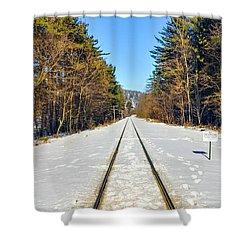 Devil's Lake Railroad Shower Curtain by Ricky L Jones