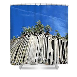 Devils Postpile National Monument Shower Curtain