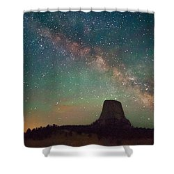 Devils Tower Lights Shower Curtain