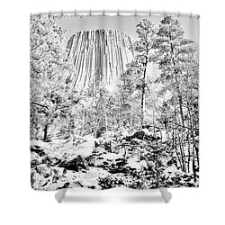 Devils Tower Wyoming Shower Curtain