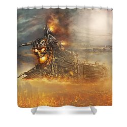 Devils Train 2 Shower Curtain