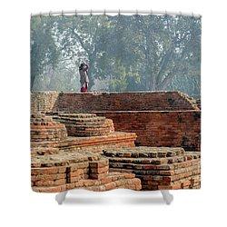 Dharma Chakra Jinavihara 02 Shower Curtain