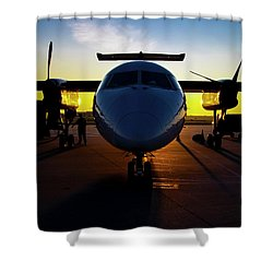Dhc-8-300 Refueling Shower Curtain