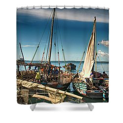 Dhow Sailing Boat Shower Curtain