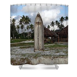 Dhow Wooden Boat As A Beach Shower Shower Curtain