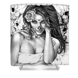 Dia De Los Muertos 2 Shower Curtain by Pete Tapang