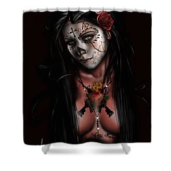 Dia De Los Muertos 3 Shower Curtain by Pete Tapang