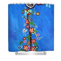 Dia De Los Muertos Shower Curtain by Pristine Cartera Turkus