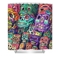 Dia De Los Muertos Sugar Skulls Shower Curtain
