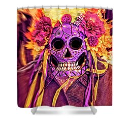 Dia De Muertos Mask Shower Curtain