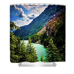 Diablo Lake Shower Curtain