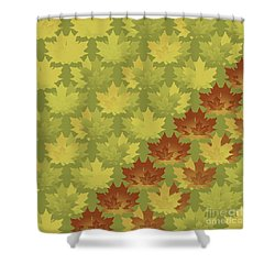 Shower Curtain featuring the digital art Diagonal Leaf Pattern by Methune Hively