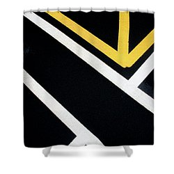 Shower Curtain featuring the photograph Diagonal Path Traffic Lines by Gary Slawsky