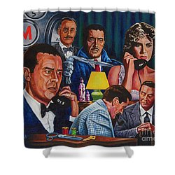 Shower Curtain featuring the painting Dial M For Murder by Michael Frank