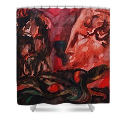 Dialogo Silenzioso Shower Curtain