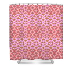 Diamond Bands Salmon Shower Curtain
