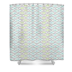 Diamond Eyes Array Faded Gray Shower Curtain