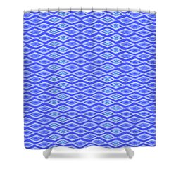 Diamond Eyes Cobalt Shower Curtain