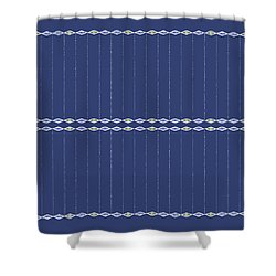Diamond Eyes Indigo Shower Curtain