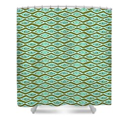Diamond Eyes Olive Shower Curtain