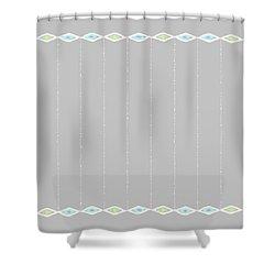 Diamond Eyes Row Gray Shower Curtain