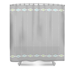 Diamond Eyes Row Gray Shower Curtain