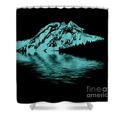 Diamond Head Shower Curtain by Elaine Hunter