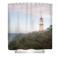 Diamond Head Light House Shower Curtain