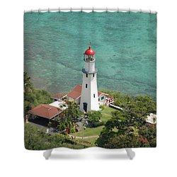 Diamond Head Lighthouse 2 Shower Curtain