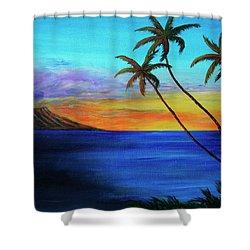 Diamond Head Sunrise #327 Shower Curtain by Donald k Hall