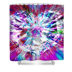 Diamond Heart Shower Curtain
