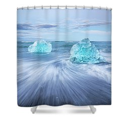 Diamond In The Rough. Shower Curtain
